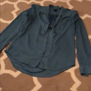 Blouse (button down) with bow
